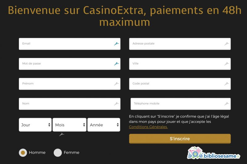 inscription casino extra