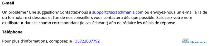 scratchmania support