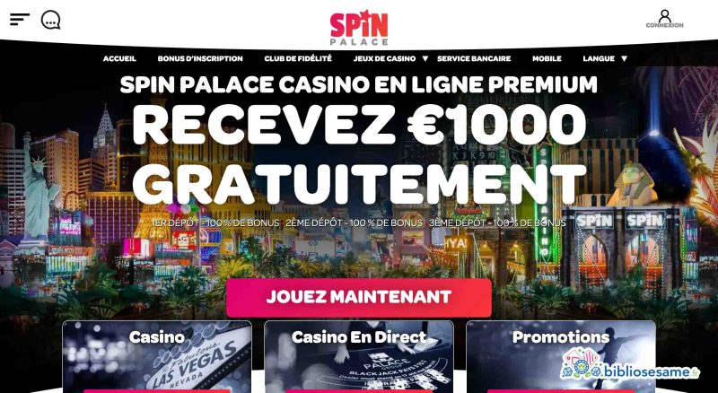 spin palace accueil